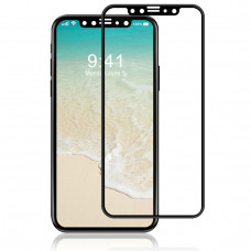 Защитное стекло Rock Curved Tempered Glass Screen Protector with Soft Edge for iPhone X (3D) 0.23MM Black